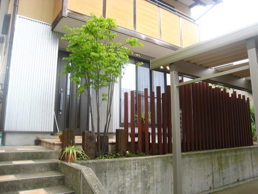 テラスリフォームとオシャレウッドフェンス/福井市S様邸