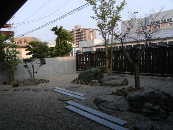 枯山水風石庭/福井市Y様邸