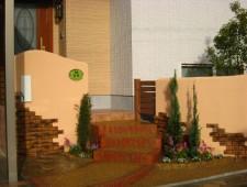 外観に合わせたトータルガーデン 塗り壁編/あわら市D様邸