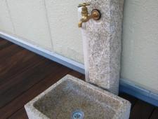 御影石製の立水栓/福井市K様邸