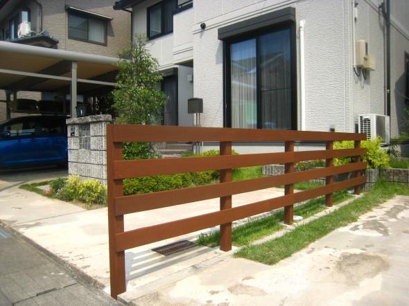 アイアンウッド低めのフェンス/福井市T様邸