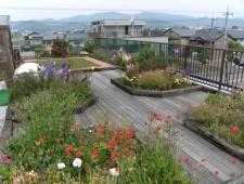 屋上で楽しむお花畑/福井市Y様邸