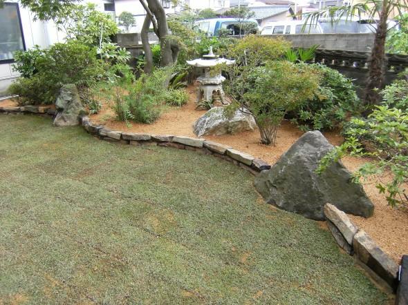 六方石でオリジナル和庭/福井市M様邸