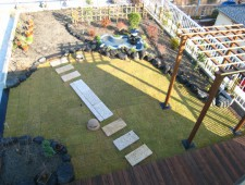 屋上で園芸や鯉の育成を楽しむプライベートガーデン/福井市K様様邸