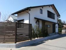 幹線道路に面する家のガーデン/福井市S様邸
