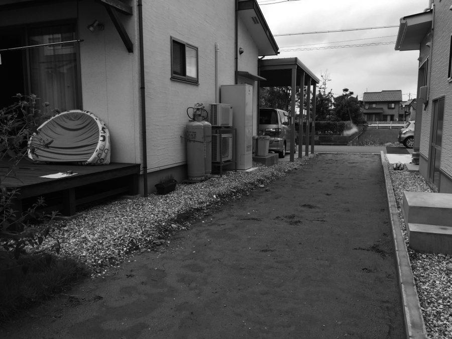 石畳園路のある庭 福井市M様邸