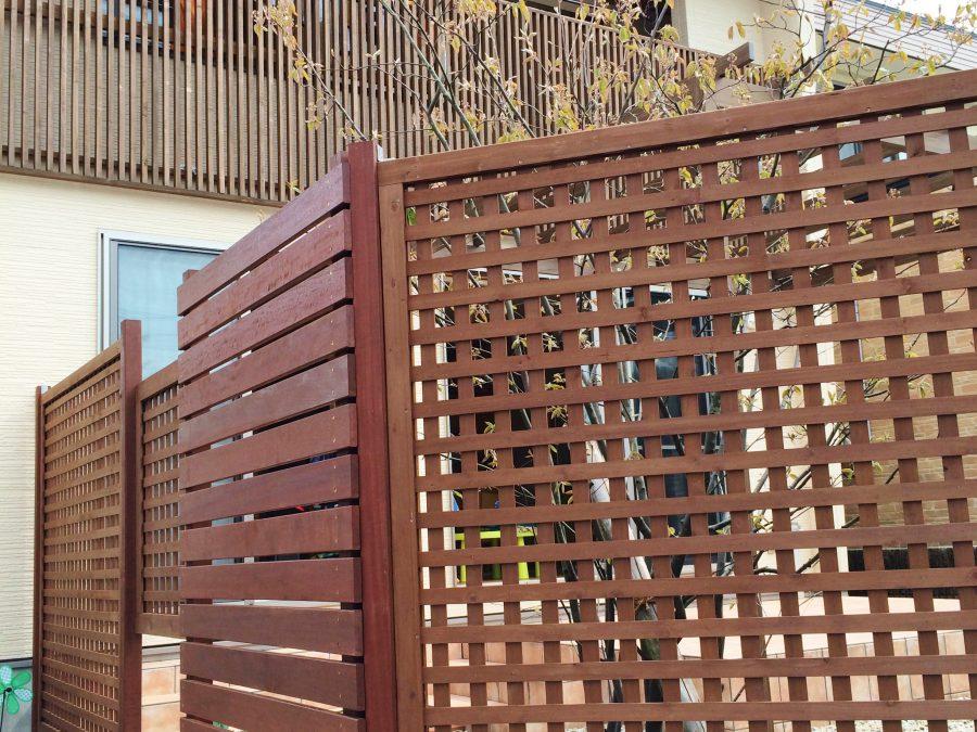 目隠しフェンスでプライベートガーデン 福井市K様邸