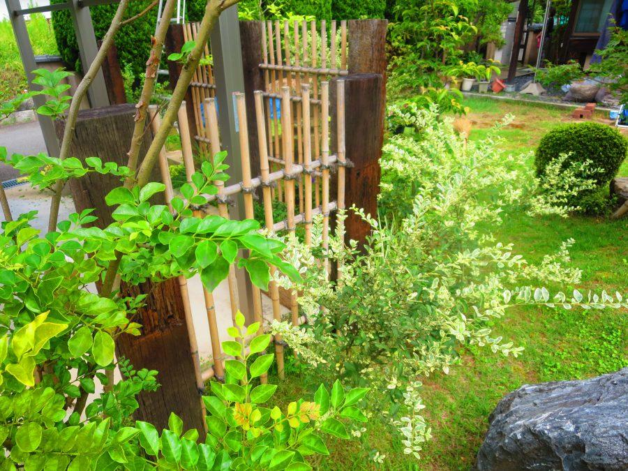 創作竹垣でつくるナチュラル和の庭 福井市K様邸